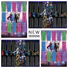 Fortnite / Frozen 2 NEW Times Tables A4 Math Poster Chart Educational Learning