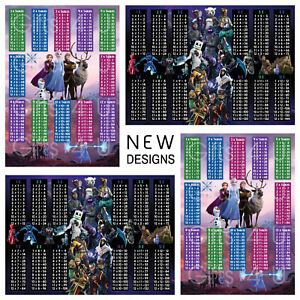 Frozen 2 / Fortnite Times Tables Home Schooling Maths Poster Education Learning