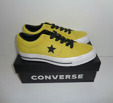 CONVERSE One Star Ox Ladies Yellow Suede New Casual Lace Shoes Trainers Size 6