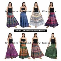 Wholesale Pack Of Indian Cotton wrap around skirts for women Boho summer skirt