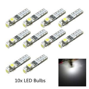 10x 6500K 58 70 73 74 T5 Dashboard Gauge 3 3528 SMD LED Wedge Bulb Light White