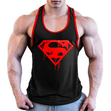 men gym tank top Sleeveless bodybuilding workout gym singlet Cotton vest fitness
