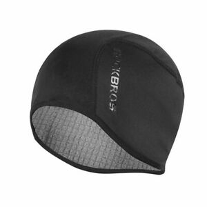 ROCKBROS Fleece Thermal Winter Windproof Outdoor Cycling Cap Hat Free Size Black