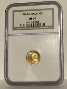 1916 Mckinley gold $1.00 ,NGC. MS66