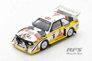 Audi Sport Quattro S1 HB Rallye Monte Carlo 1986 Hannu Mikkola 1:43 Spark 5191
