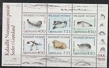 v337 Grönland/ Robben  MiNr Block 3 **