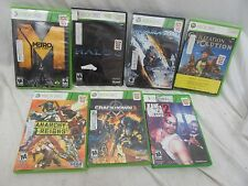 Lot of 7 - X BOX 360 Games.  Rated M & E -  See Description for Listing - Good