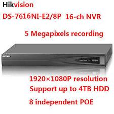 Original English Hikvision DS-7616NI-E2/8P Embedded Plug & Play NVR DVR Recorder