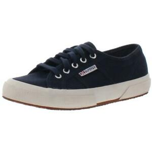 Superga Womens 2750 Classic Navy Sneakers Shoes 6.5 Medium (B,M) BHFO 0972
