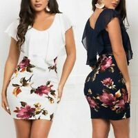 Long Sleeve V Neck Loose beach Dresses Casual Dress Floral Cocktail women's Maxi