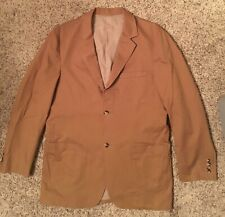 Mens Saks Fifth Avenue Brown Sports Coat Size Large