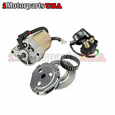 09-13 YAMAHA RAPTOR 90 YFM90 90CC ATV STARTER REBUILD KIT MOTOR CLUTH RELAY SET