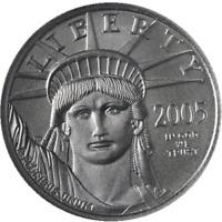 2005 Platinum American Eagle $25 1/4oz NGC MS70 Nice Strike