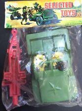 Unbranded Unpainted Plastic Vintage Toy Soldiers