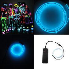 1M EL Wire Light Neon Flexiable Glow Party Car LED Decoration & DC 3V Controller