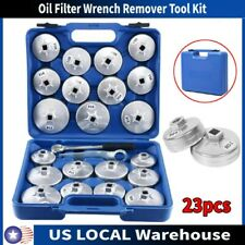 23PCS/Set Cup Type Aluminium Oil Filter Wrench Removal Socket Remover Tool Kit