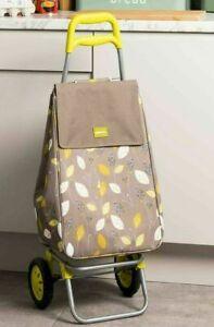 Sabichi Leaf Lemongrass Lightweight Shopping Trolley