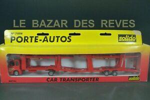 SOLIDO FRANCE. Porte voitures RENAULT. REF: 7006. + Boite.