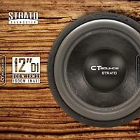 "CT Sounds Strato 12"" D1 800 Watt RMS 12 Inch Dual 1 Ohm Car Subwoofer Audio Sub"