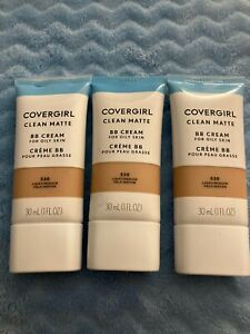 3 Tubes Cover Girl Clean Matte BB Cream for Oily Skin - 530 Light Medium - 1 oz
