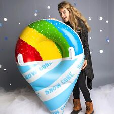 GIANT SNOW CONE Inflatable Snow Tube Winter Sled Ride Pool Float - BigMouth