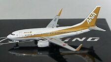 Panda BOX18023 ANA All Nippon Boeing 737-700 Gold JA01AN Diecast 1/400 AV Model