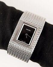 CALVIN KLEIN Damenuhr/Uhr K5L13131 MESH SWISS MADE Farbe:Silber NEU