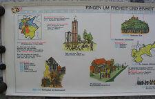 Wandbild Geschichtsfries Reichs-Einigung 1815-48 139x50 vintage wall chart 1965