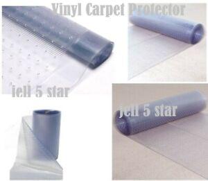 Clear Carpet Protector Runner Roll Plastic Vinyl Heavy Duty Home Office Hallway