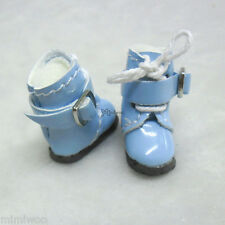 Middie Blythe Hujoo Baby BB Obitsu 11cm Body Bjd Doll Shoes Buckle Boots Blue