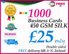 1000 Business Cards / 450gsm Premium Silk Quality / Double Side / Free Delivery