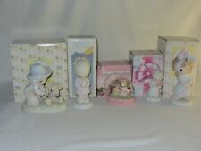 Lot of 4 Precious Moments Figurines & 1 Snow Globe Bear Loving Angel Give