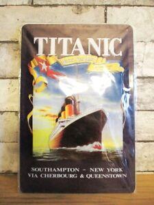 Titanic Ship Kreuzfahrt Steamer Tin Sign Nostalgia Sign 30 CM