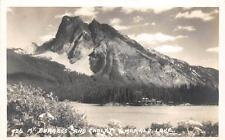 RPPC MT. BURGEGS & CHALET EMERALD LAKE CANADA REAL PHOTO POSTCARD