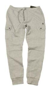 Polo Ralph Lauren Men's Grey Heather Double Knit Cargo Jogger Pants