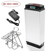 48V 20AH 1000W Electric Bicycle lithium Battery + Rear Rack Carrier+ Charger Kit