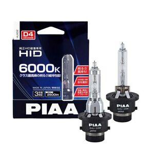 PIAA Headlight HL602 HID Bulb 2pcs D4U for D4R D4U 6000K 12V Made In Japan