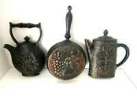 Mid Century 1972 HOMCO Wall Hangings #7261 Coffee Pot #7262 Teapot #7263 Skillet