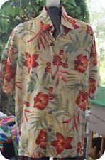 Mango Moon NWT TANGERINE  MAHALO  Hawaiian Beach Surf  RAYON Shirt MEDIUM