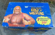 1986 DIAMOND PANINI WWF WWE HULK HOGANS ROCK N WRESTLING SUPERSTAR FULL BOX