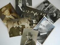 Gustave Charpentier Compositore Lotto 7 Foto Stampa Timbro verso 1912-1956