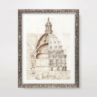 DOME ARCHITECTURAL PLANS DIAGRAM DRAWING ART PRINT Poster Home Decor Picture