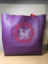 Embroidered Chihuahua  Tote or Purse Faux Leather