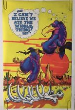 Can't Believe I Ate The While Thing Original Vintage Blacklight Poster Vultures