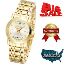 NEW Burberry Watch Women's Swiss Goldtone Stainless Steel Bracelet 28mm  BU1394