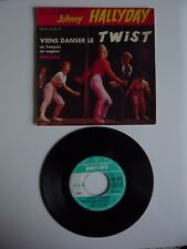 """JOHNNY HALLYDAY viens danser le twist FRENCH 1961 PHILIPS 4 Track 7"""" EP SINGLE"""