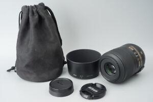 Nikon AF-S AFS Micro Nikkor 85mm f/3.5 f3.5 G ED DX IF VR Macro Lens