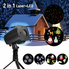 2 in 1 Holiday Decoration LED Projector Light Outdoor Landscape Rotating