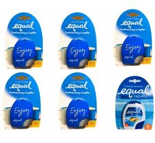 (6 PACK) EQUAL TABLETS ZERO CAL SWEETENER 100 CT EA SUGAR SUBSTITUTE TRAVEL SIZE