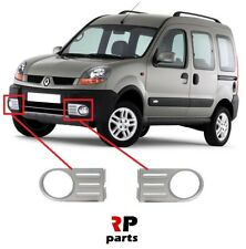 FOR RENAULT KANGOO 4x4 03-08 NEW FRONT BUMPER FOGLIGHT GRILLE SILVER PAIR SET